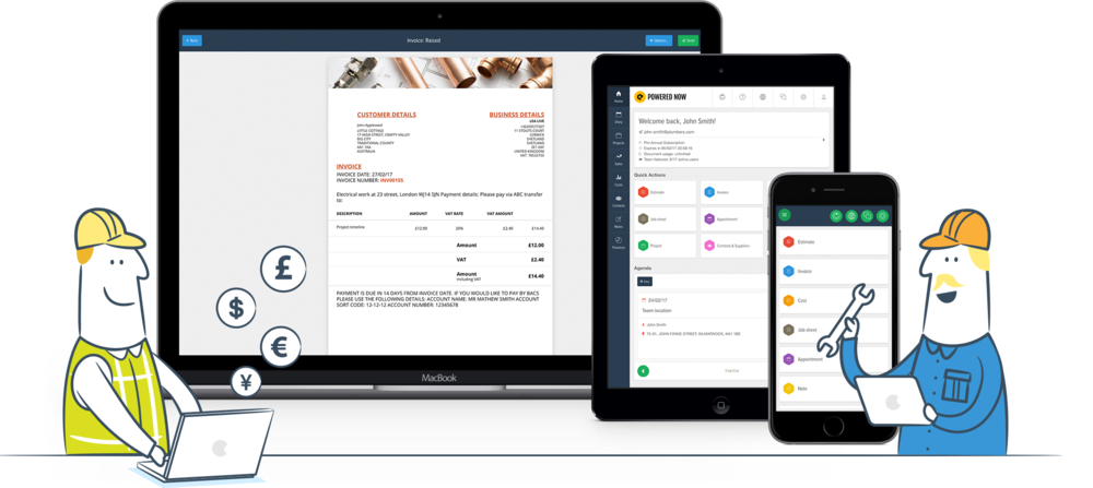 Invoice from anywhere and any device: Desktop, iOS & Android version.