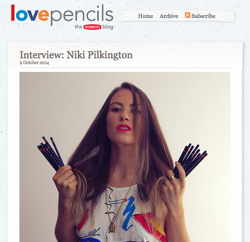 http://www.lovepencils.co.uk/post/2014/10/09/Interview-Niki-Pilkington.aspx