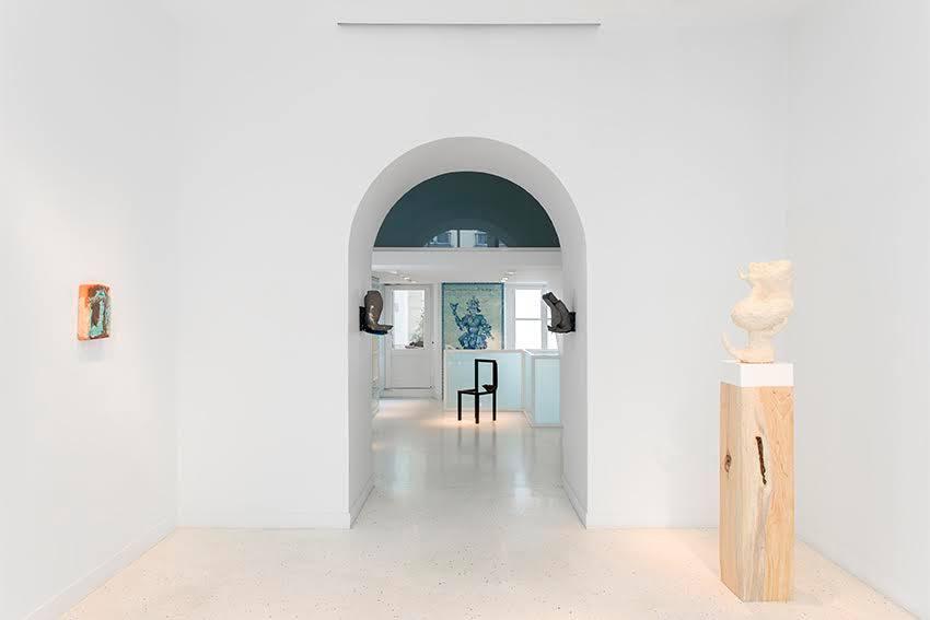 Exhibition's view -   Arlene Shechet, Michaela Meise, Katinka Bock, Elizabeth Jaeger.