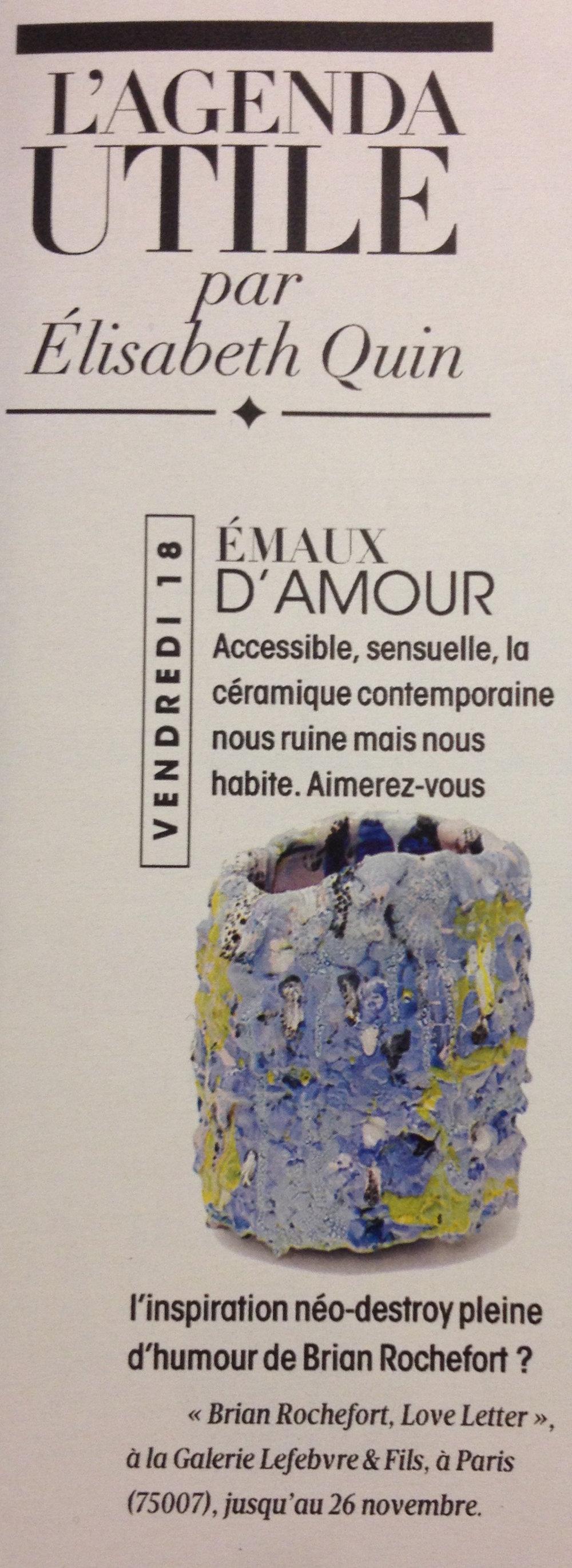 Article d'Élisabeth Quin dans Madame Figaro.
