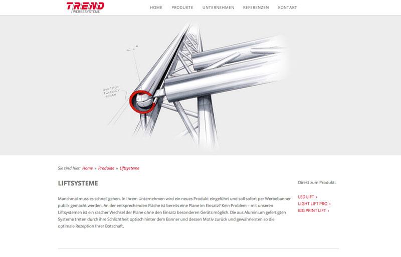 Die neue Webpräsenz von TREND Werbesysteme