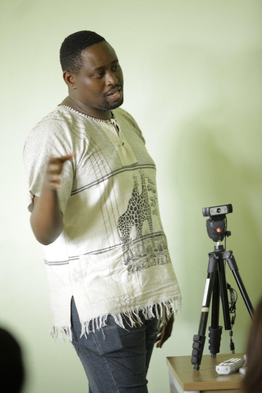 Cyril Ndegeya Talking with ADMA Students