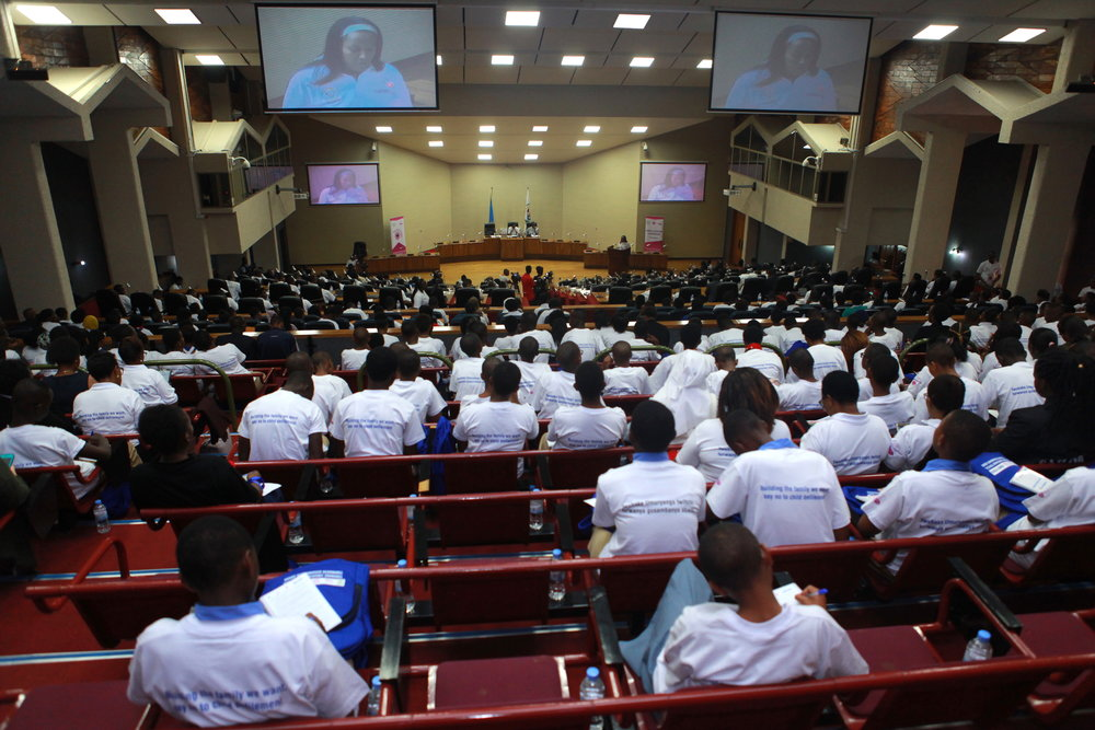 The view of parliament during the special session of International Day of the Girl.