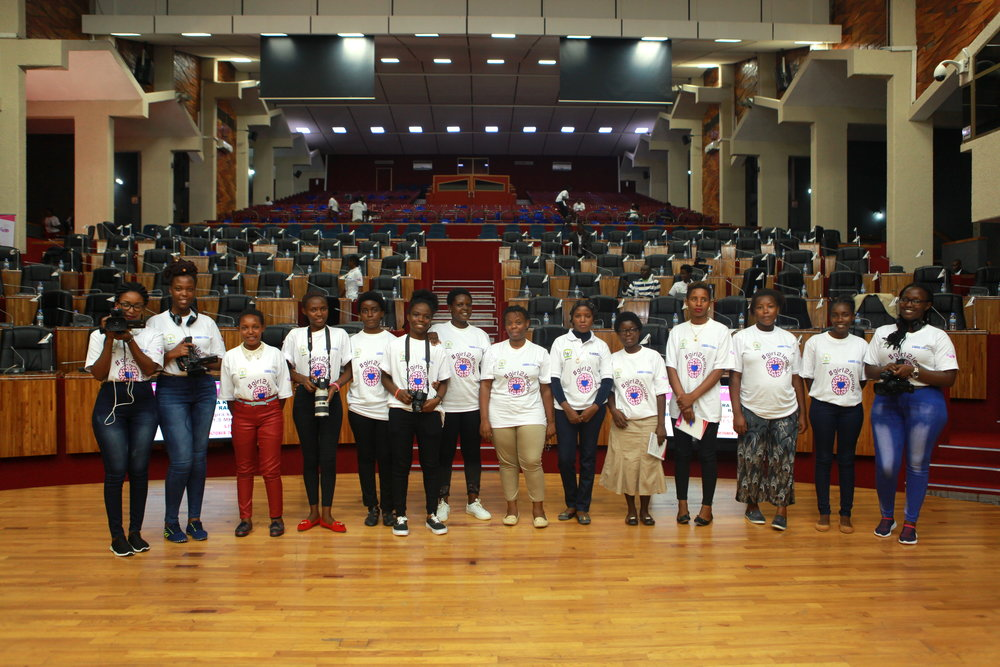The Imbuto ADMA team that filmed/photographed the event at Parliament.