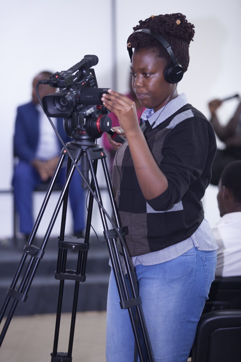 ADMA Student Sandrine Iragena Setting up the camera  copy.jpg