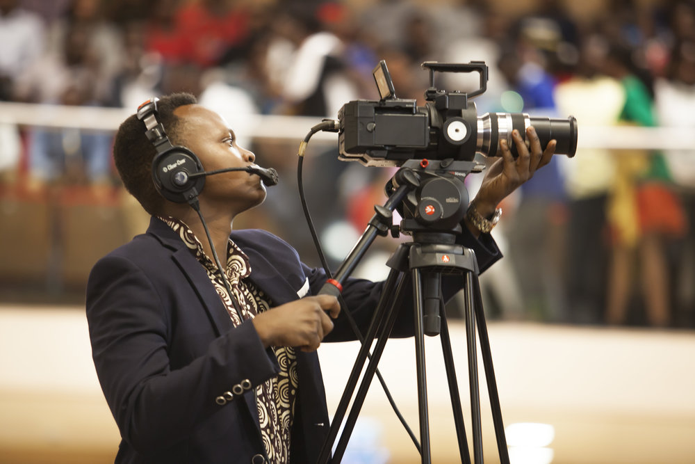 Yves Hirwa Emmanuel on Sony FS700 at WorldSkills Opening Ceremony