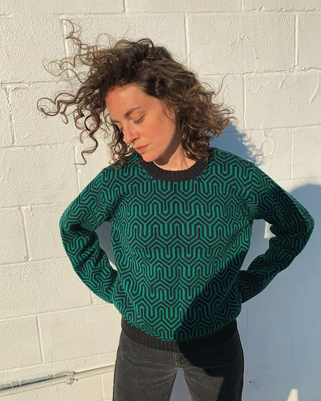 Note to self, spend more time in the sunshine and wear more green. . . . #knitwear #slowfashion #wool #maximalistfashion