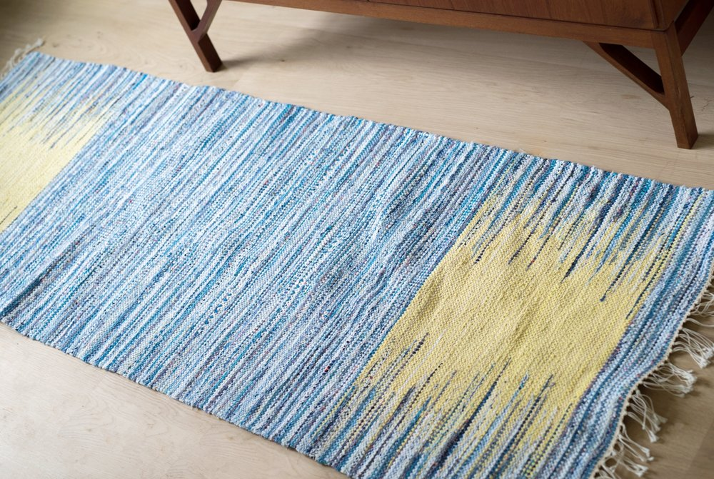 Beautiful Blues! - a lovely rug with a complementary color palette
