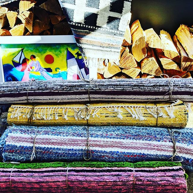 An assortment rugs just sold and ready to go to their new homes!