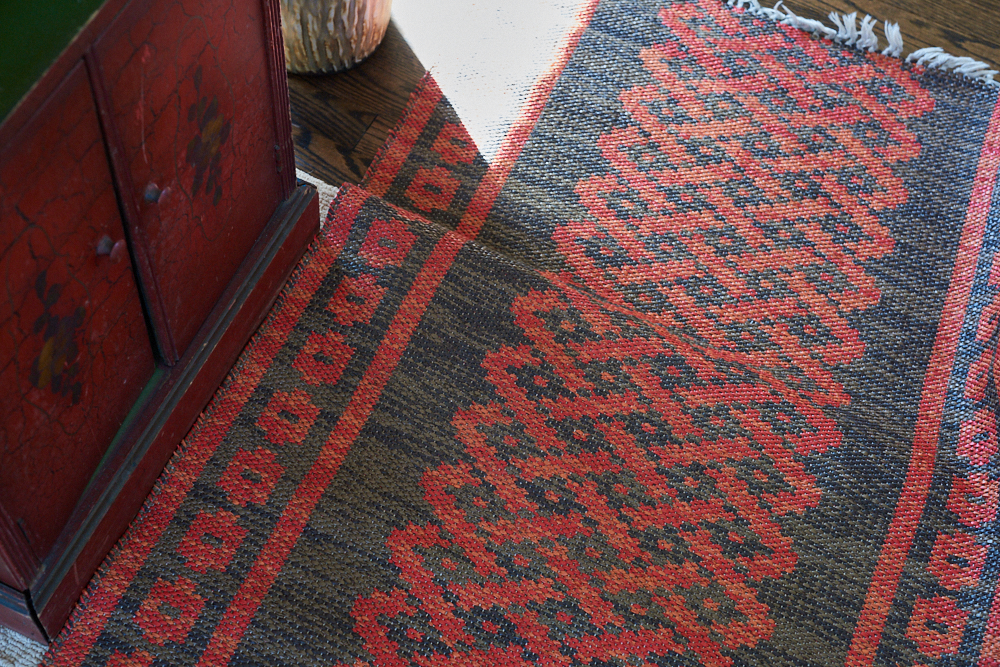 RED! - So many ways to experience the color red. A color that evokes strength, passion, elegance, heat - red calls attention to itself. Our handwoven Swedish rugs allow you to play with the beauty of red as a casual or serious accent to any decor. Red doesn't always need to be bright and bold. Softer reds are just as wonderful!