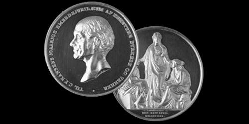 C. F. Hansen Medaljen 1991 Hans Dissing + Otto Weitling modtager C. F. Hansen medaljen.