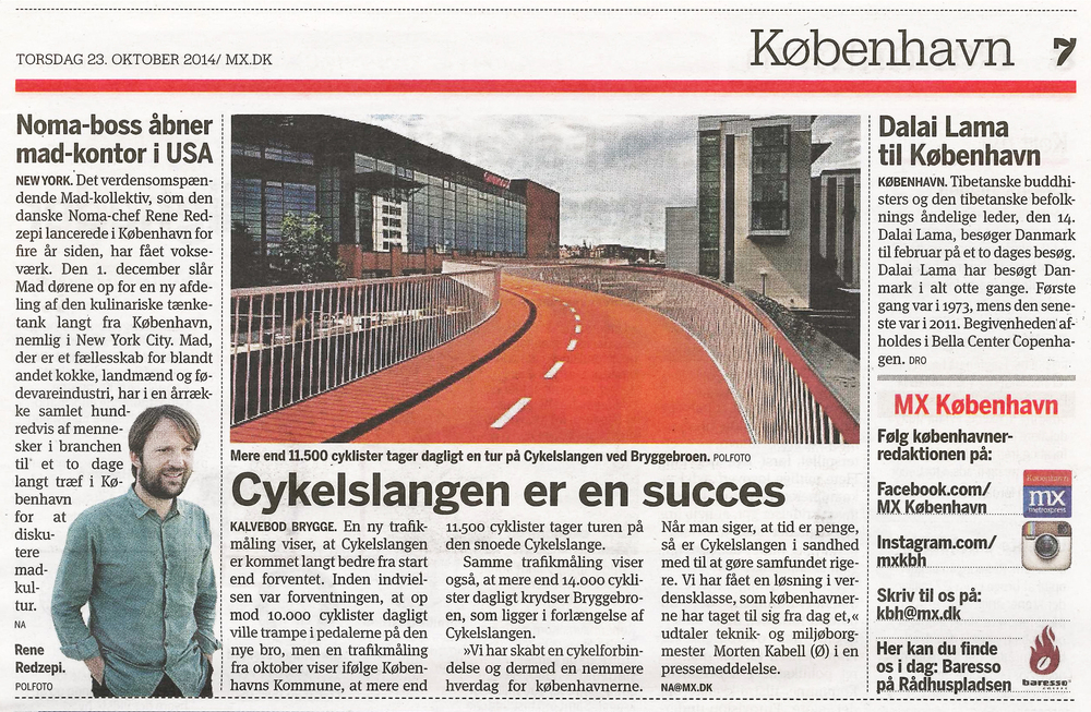 For more information: Cykelslangen