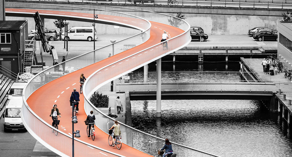 "Store Arne, Danish Association of Architects 2015    The Bicycle Snake  honored with Store Arne Award 2015. ""  We now add   cyclism to the isms of architecture   "" ."