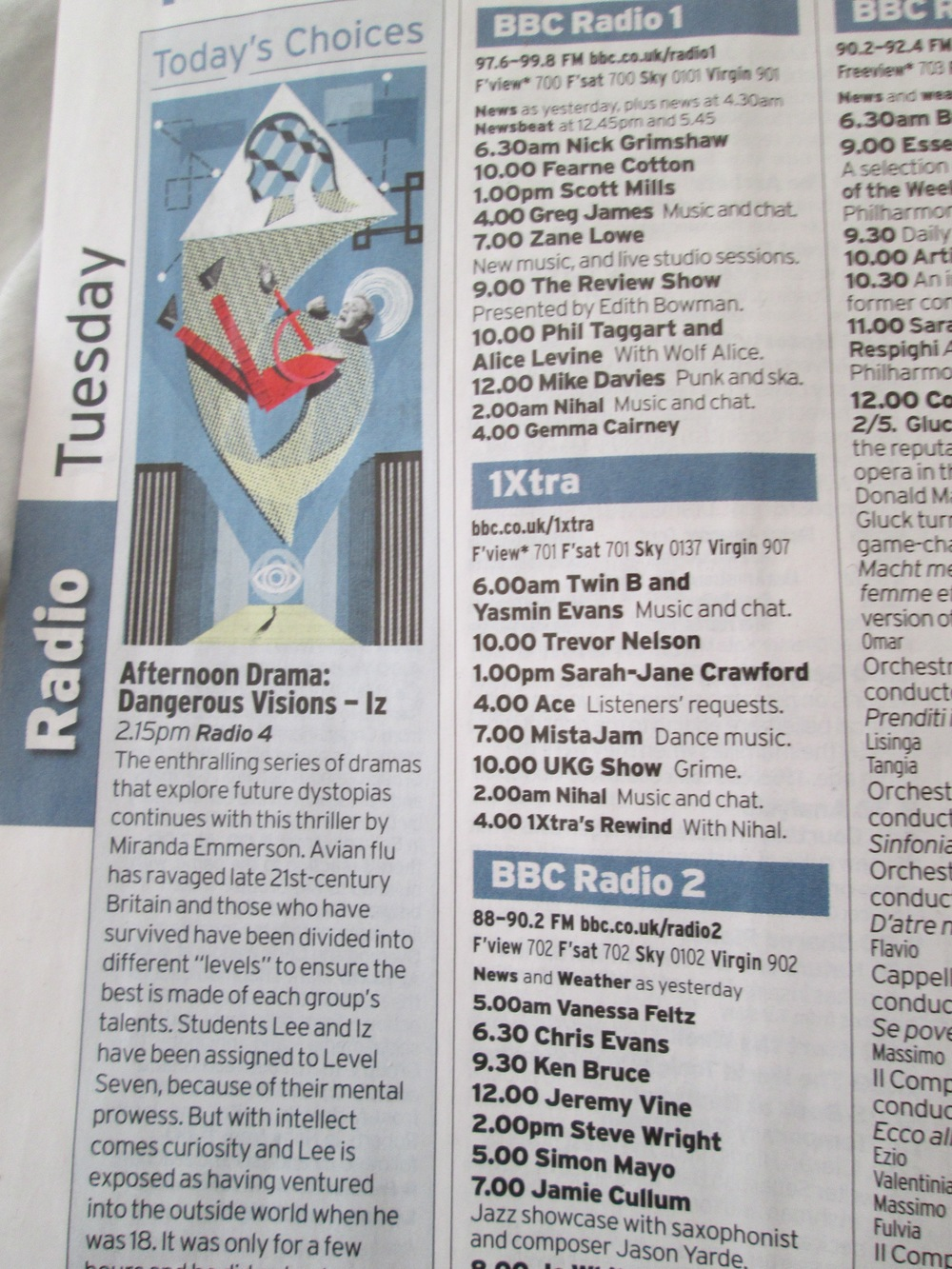 Radio Times made it Today's Choice...