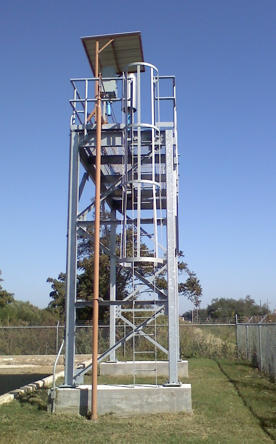 Bio-Gas Flare Platform, Buras Waste Water Treatment Plant, Buras, LA