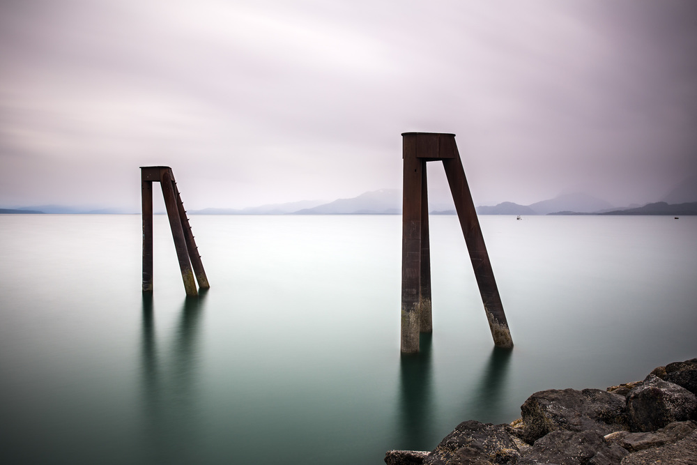 Retired pier in Land's End, Alaska