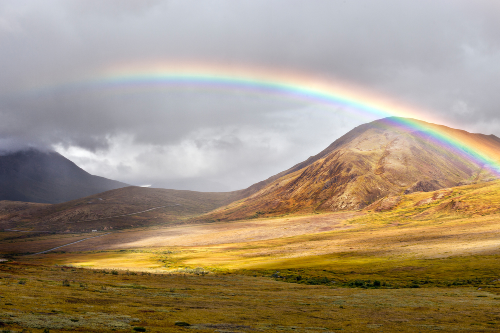Rainbow over Denali National Park, Alaska