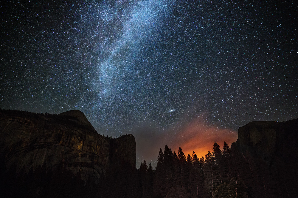 Forest fire in Yosemite, California