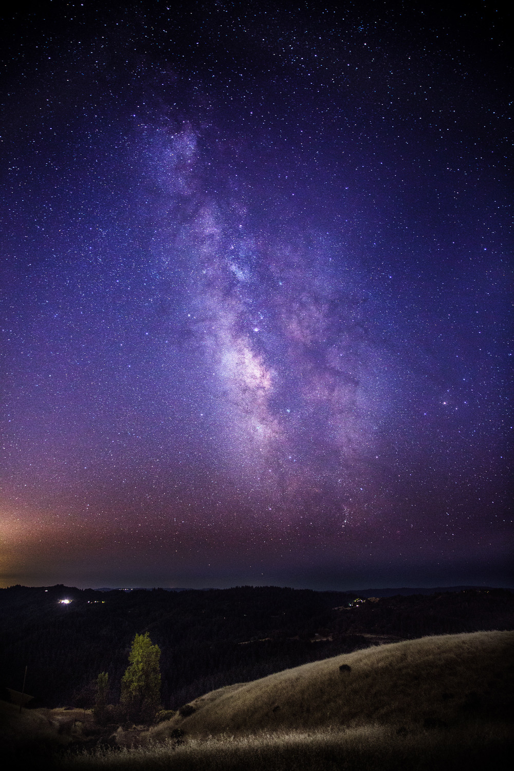 Milky Way over Monte Bello State Park