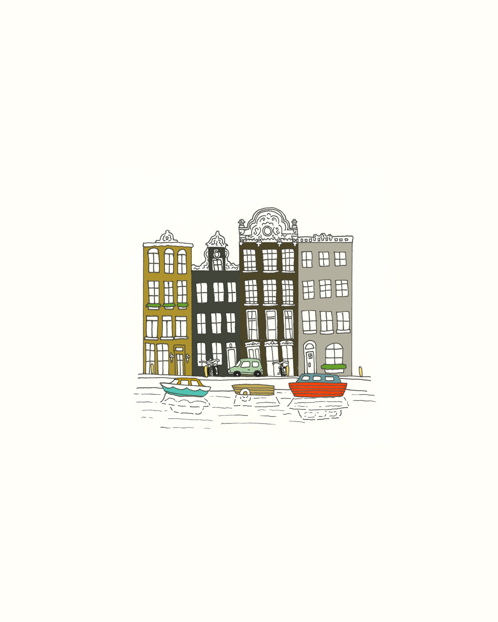 Amsterdam Canal. Kathryn Zaremba 2014