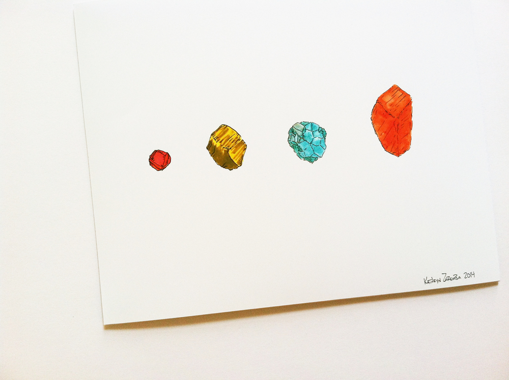 Gem Collection. 8X10, archival art print. Kathryn Zaremba 2014