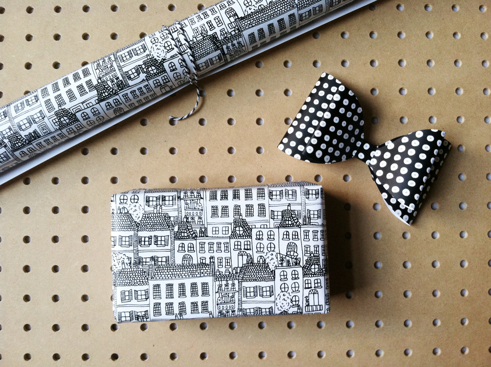 Townhouses Gift Wrap by Kate Zaremba 2014
