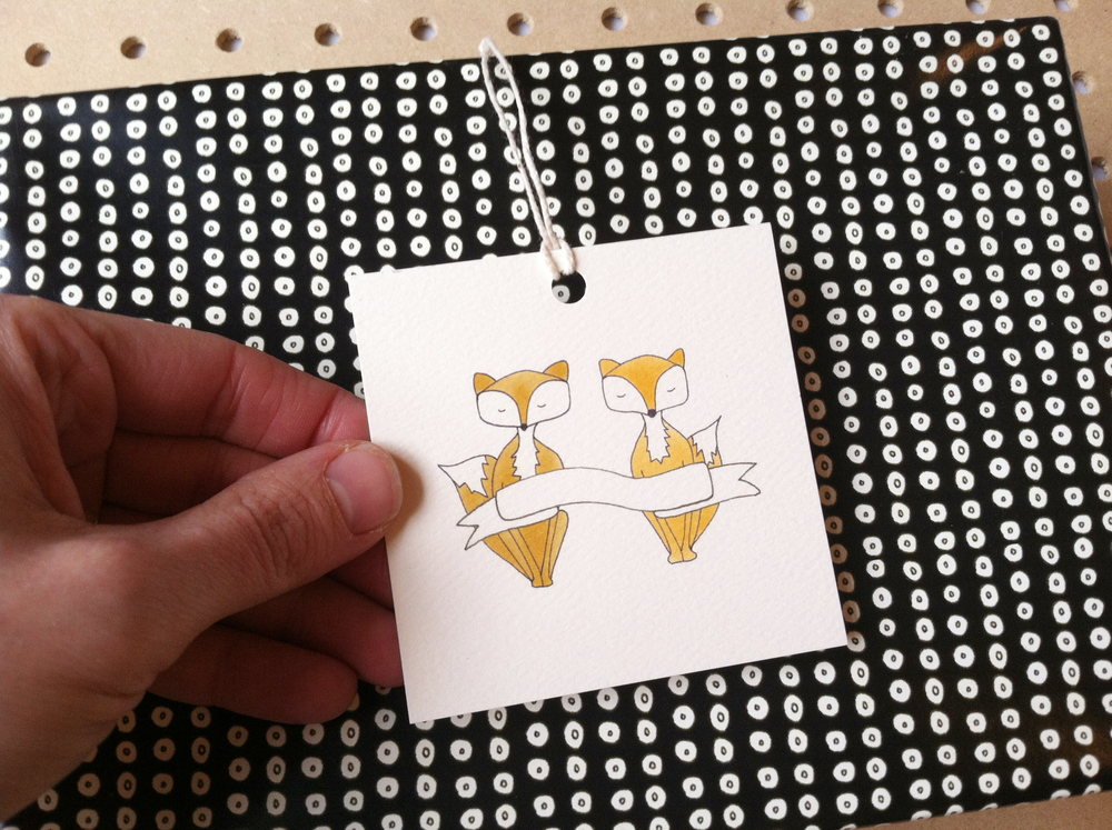 Foxy Gift Tag