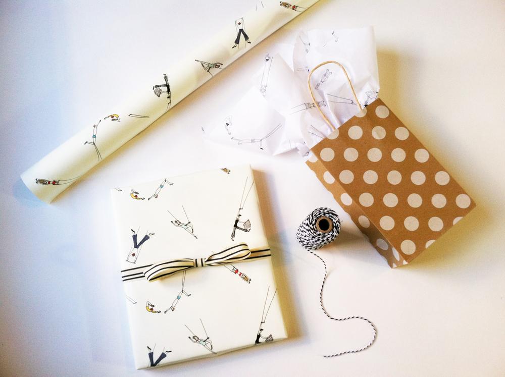 Trapeze Gift Wrap by Kate Zaremba Company
