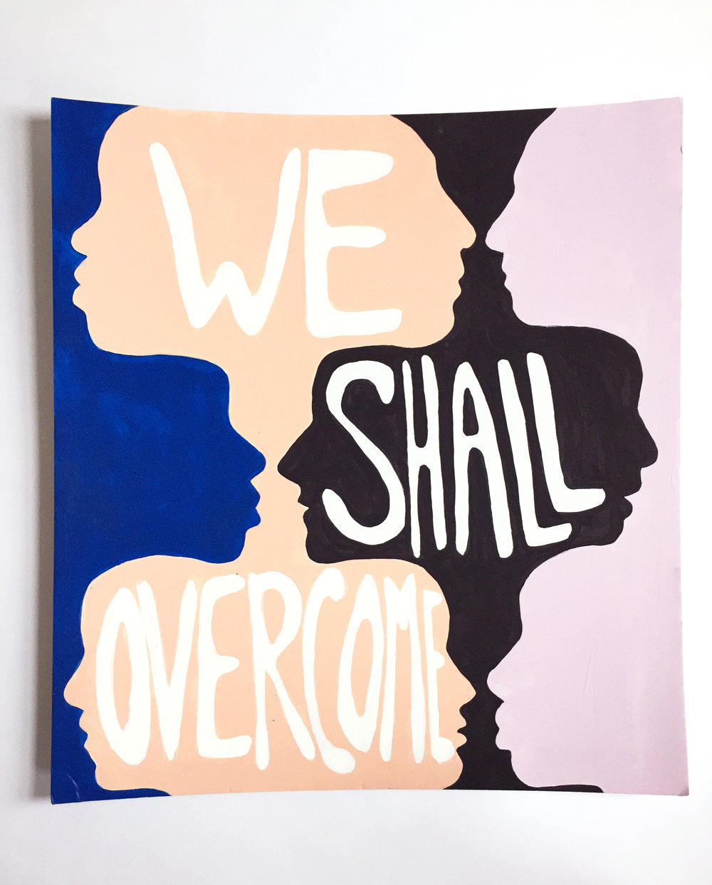 We Shall Over Come Protest Poster Kate Zaremba