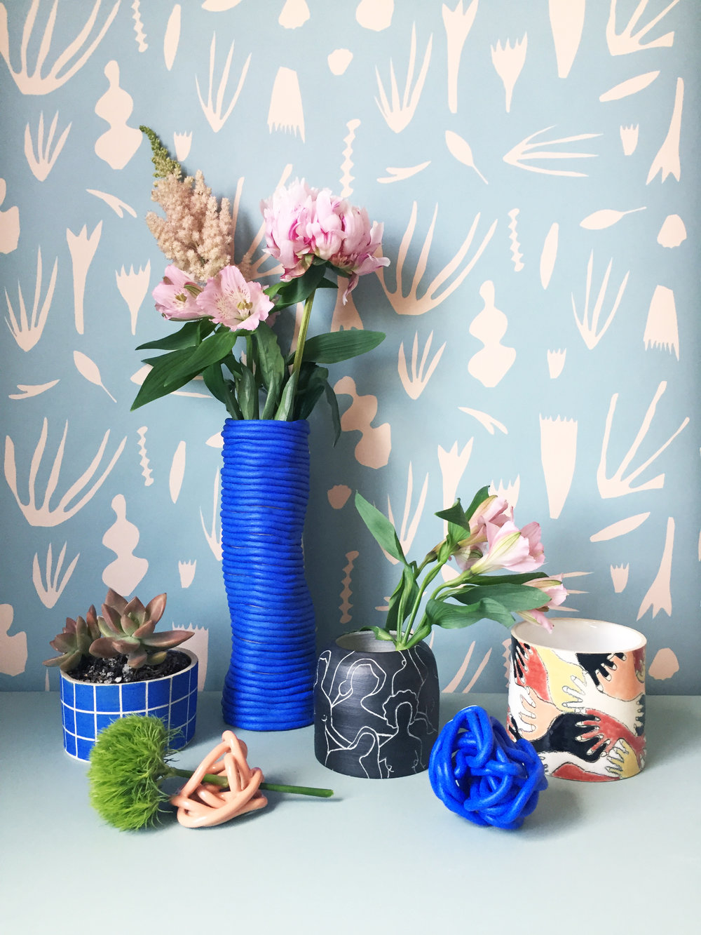 Wallpaper and Pottery by Kate Zaremba