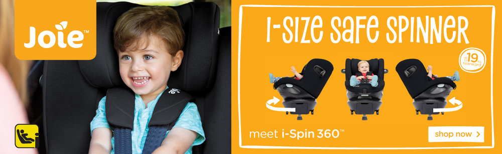 Now in Stock the new Joie I-Size Spin 360