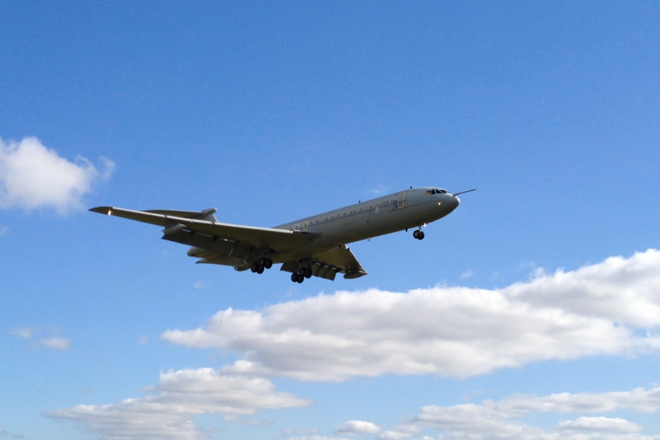 Vickers VC10 at RAF Brize Norton, following a flypast on 20th September 2013