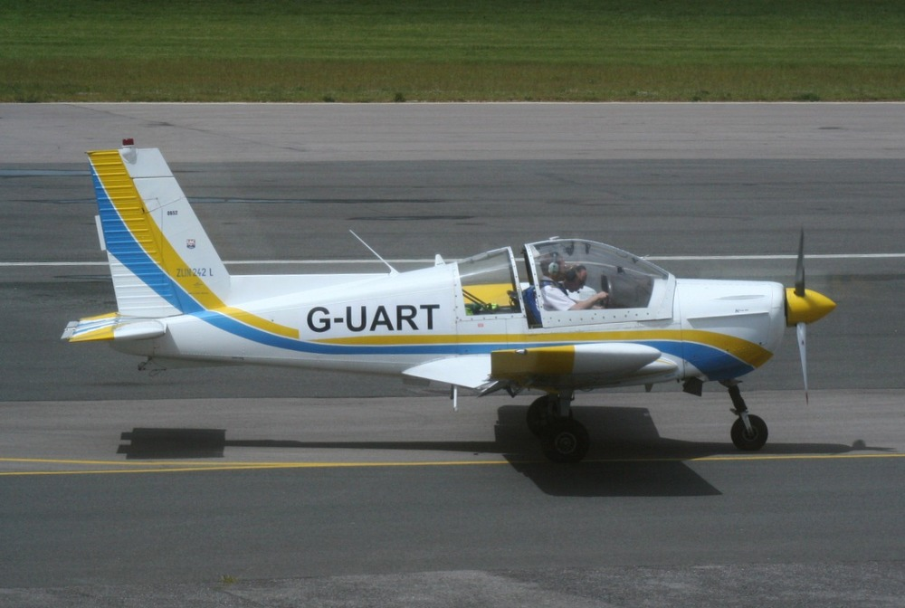 The Zlin 242L as used in our aerobatics training, sporting it's personalised registration!
