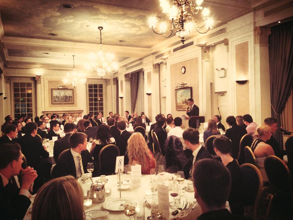 Scott Pendry, Chairman of the Air League, speaks at the Young Aviators' Dinner held at the RAF Club in Piccadilly, London earlier this month. I'd be impressed if someone can spot me in the audience!