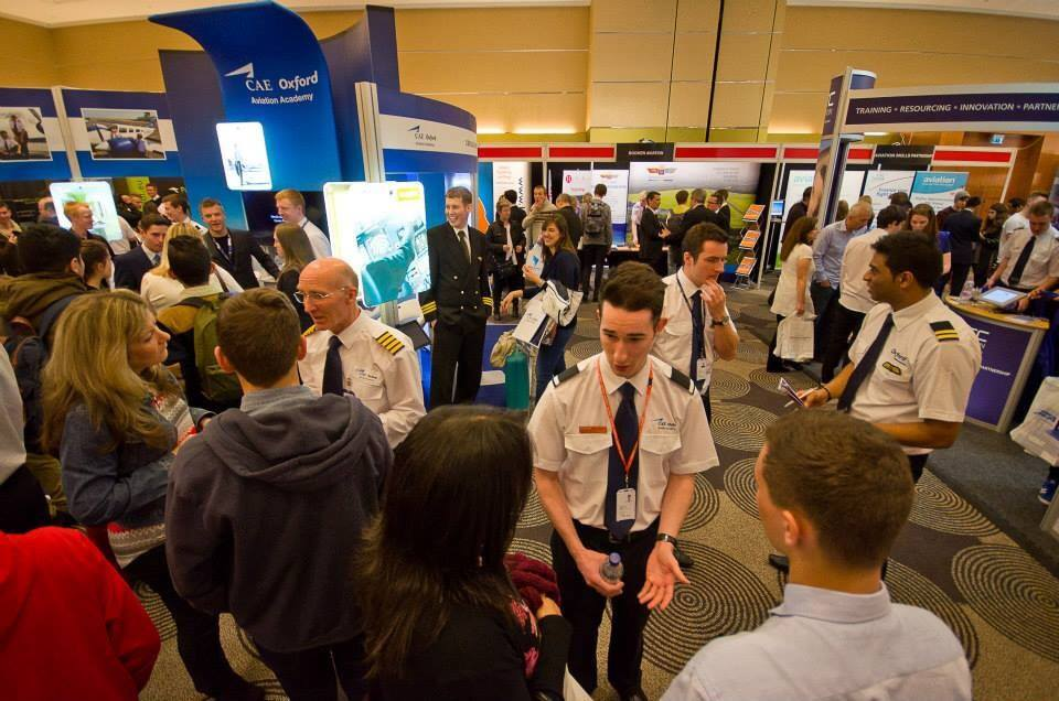 The CAE Oxford Aviation Academy stand at the Flyer Professional Flight Training Exhibition at Sofitel London Heathrow last month. A busy event, and another image where I'm pretty difficult to spot! (Image fromPFTE)