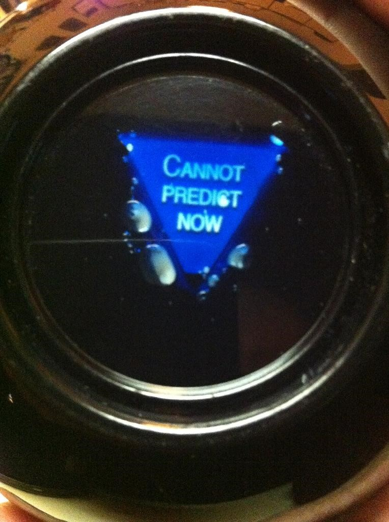 Photo courtesy of Rich Williams and his 'antique' Magic 8 Ball