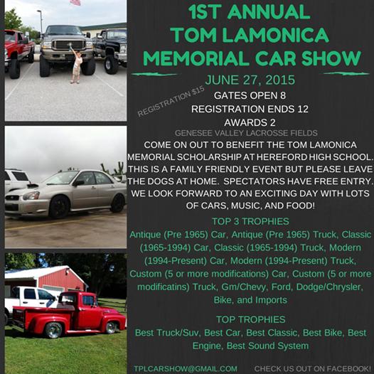 St Annual Tom LaMonica Memorial Car Show Hunt Valley Horsepower - Thomas chevy car show