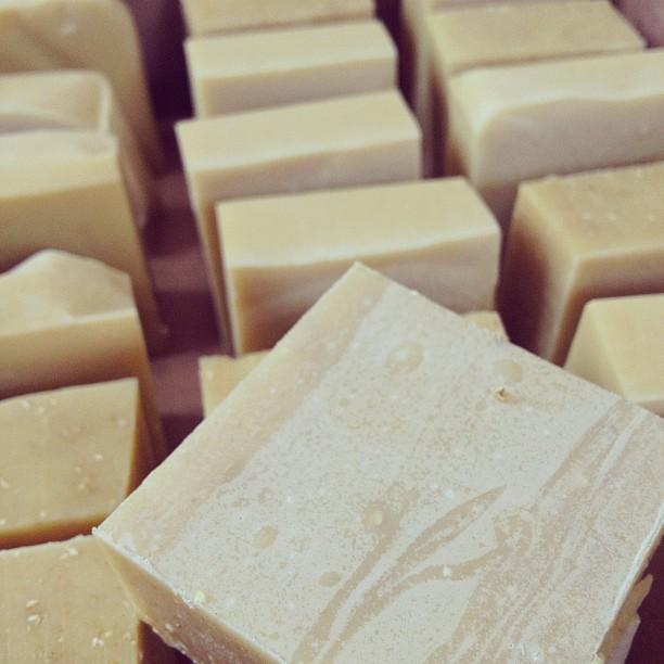 Our Handmade Lavender, Lemon Verbena, and Oat Goat's Milk Soap