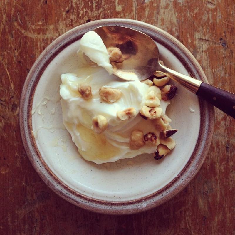 Skyr, our icelandic style, extra thick yogurt.