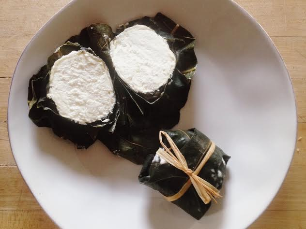 FIGATA - a soft cheese, aged wrapped in whiskey macerated fig leaves
