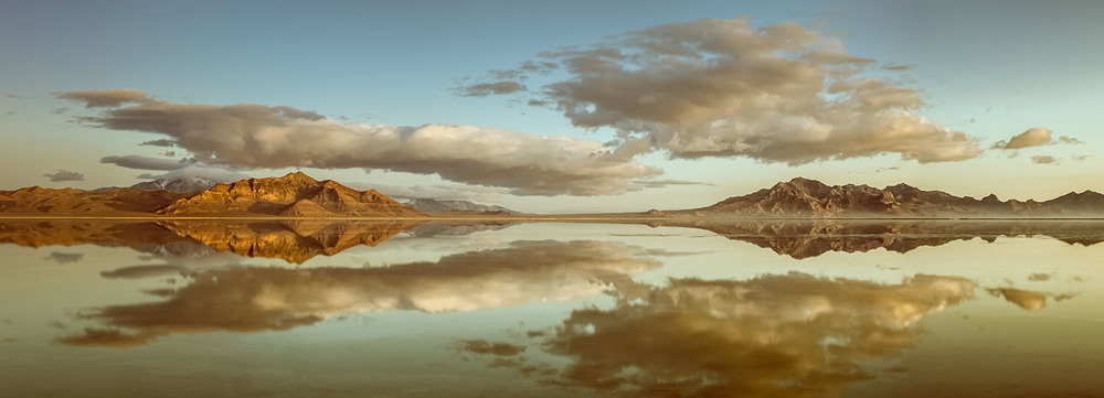 Great Salt Lake Sunrise Reflection
