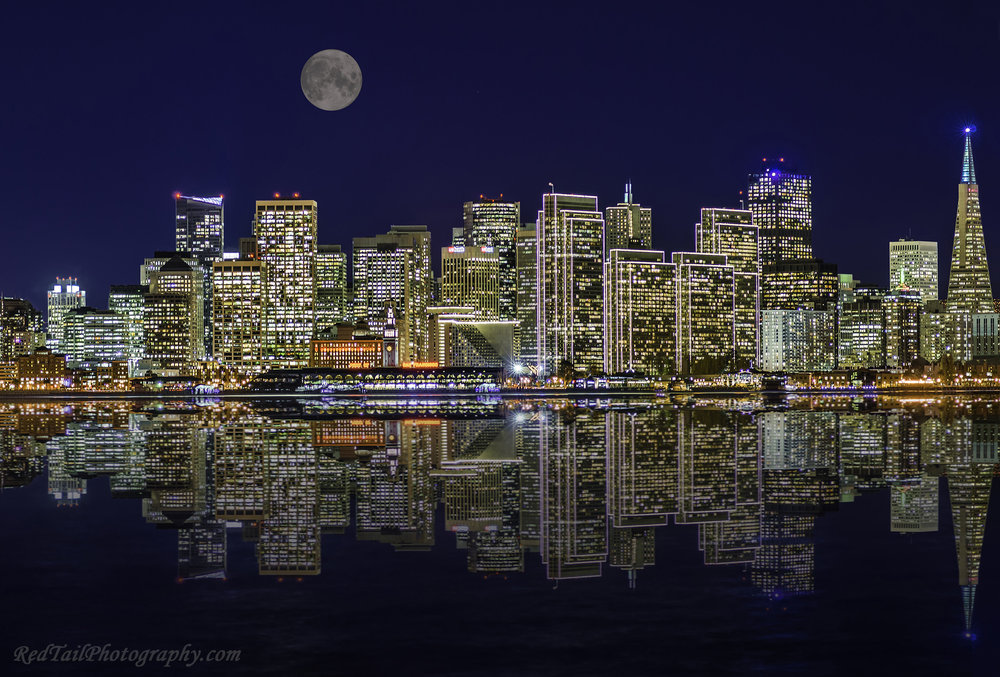 Sacramento Corporate & Industrial Photography-San Francisco city lights from Treasure Island