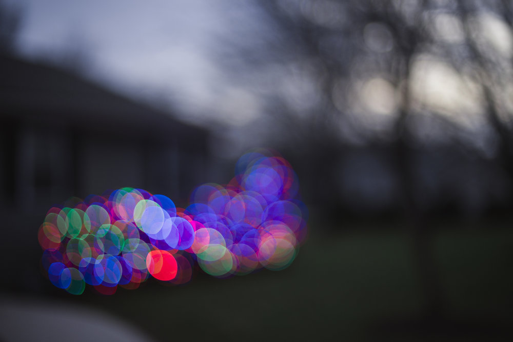 339 // 366 Christmas light bokeh at Seth's parent's