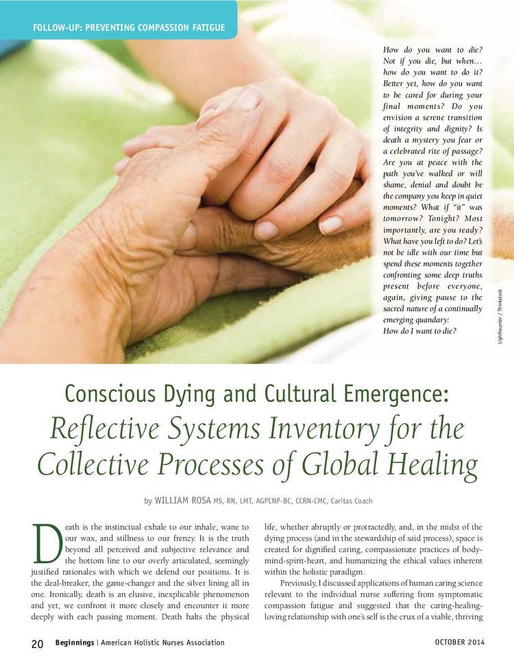 Blog Conscious Dying Institute
