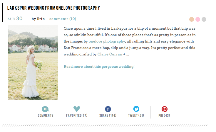 http://www.stylemepretty.com/2013/08/30/larkspur-wedding-from-onelove-photography/