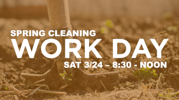 spring cleaning and work day praise center