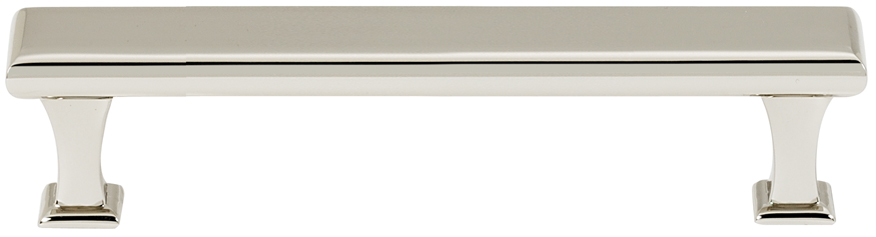 106A310-4-PN Manhattan handle 4in ctc solid brass polished nickel finish.  Also available in satin nickel, polished chrome and bronze.