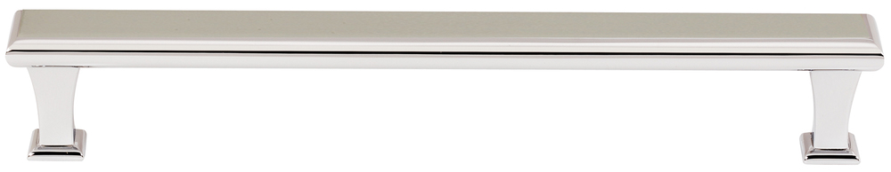 106A310-8-PN Manhattan handle 8in ctc solid brass, polished nickel finish.  Also available in satin nickel, polished chrome and bronze.