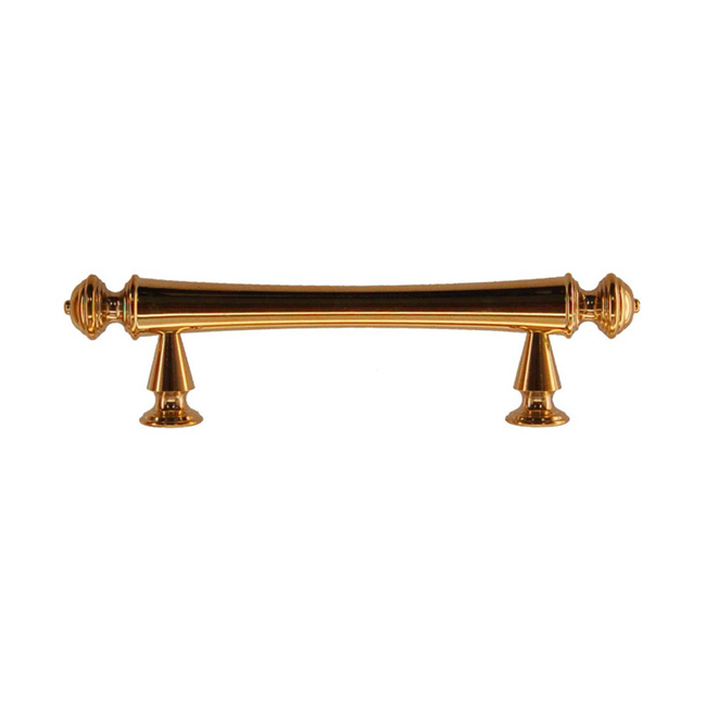 2361425-PL Classic elegance handle 3in ctc 4-3/4in overall.  Solid brass with polished brass finish.  Two other sizes & four finishes available.