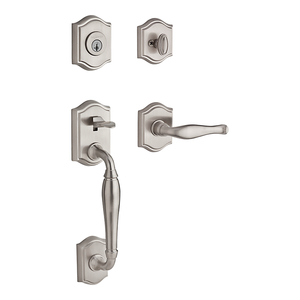 front door hardware brushed nickel. 110 Westcliff Entry Set With Decorative Lever In Satin Nickel. \u0026nbsp;Six Finishes Available Front Door Hardware Brushed Nickel K